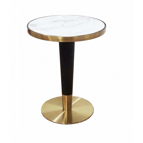 Mesa de marmol canto dorado oro conic