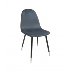 VELVET VELVET CHAIR GREY VELVET
