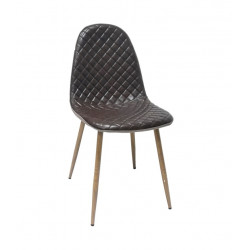 SILLA MOON POLIPIEL CAFE Y TELA