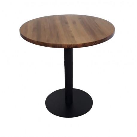 Mesa redonda madera bar restaurante 60 70 80