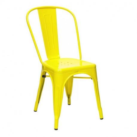 Silla tolix amarilla amarillo