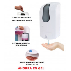 DISPENSADOR GEL HIDROALCOHOLICO AUTOMATICO