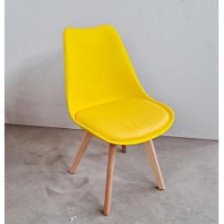 Silla amarilla tapizada  Mostaza