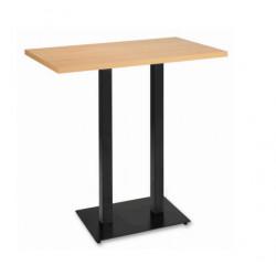 Mesa rectangular alta madera 110x70 120x80