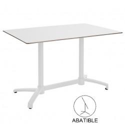 mesas de terraza blancas tablero compacto kosov