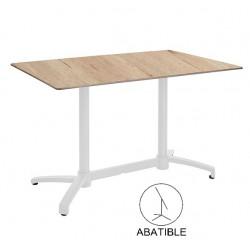 Mesas de bar Terraza Rectangular 110x70 120x80 compacto roble blanco kosov
