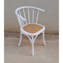 Solei White Worn Chair