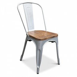 Tools Chair Wood Natural Steel