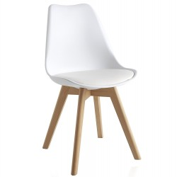 Silla Spider Cross replica eames blanca