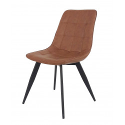 silla kim chair vintage hosteleria industrial piel metal