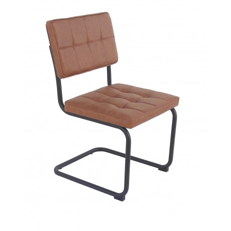 silla patine chair vintage hosteleria industrial piel metal