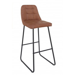 taburete kim chair vintage hosteleria industrial piel metal