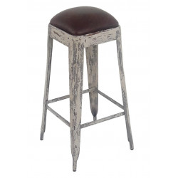 Stool Natural Steel
