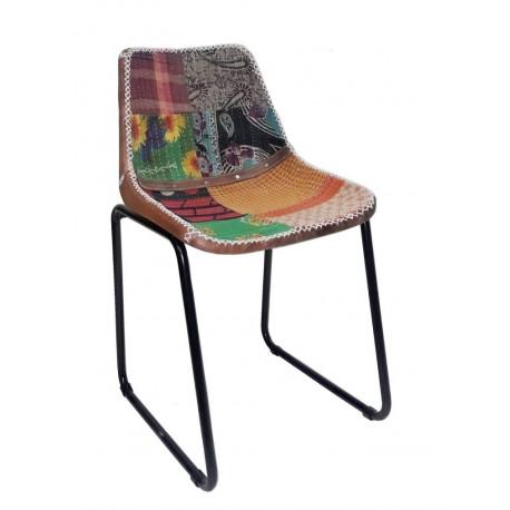 rosillo silla sprin vintage industrial piel cuero