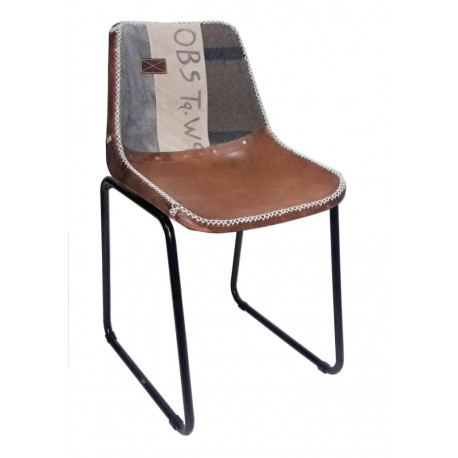 Rosillo Silla Obs vintage chair piel leather