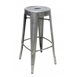 Stool Tools Round Natural Steel