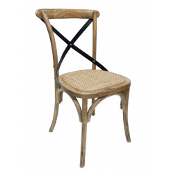 Silla replica thonet Cruz Cross Black negra