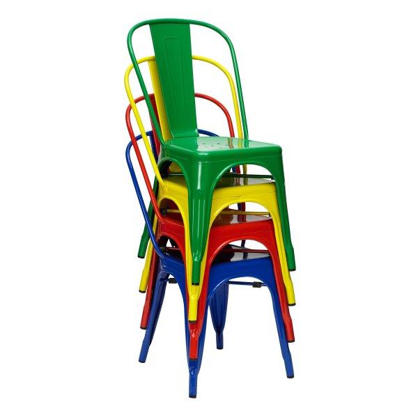 sillas tolix amarillas rojas verde blancas