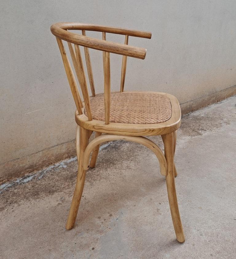 sillas bistro madera rattan
