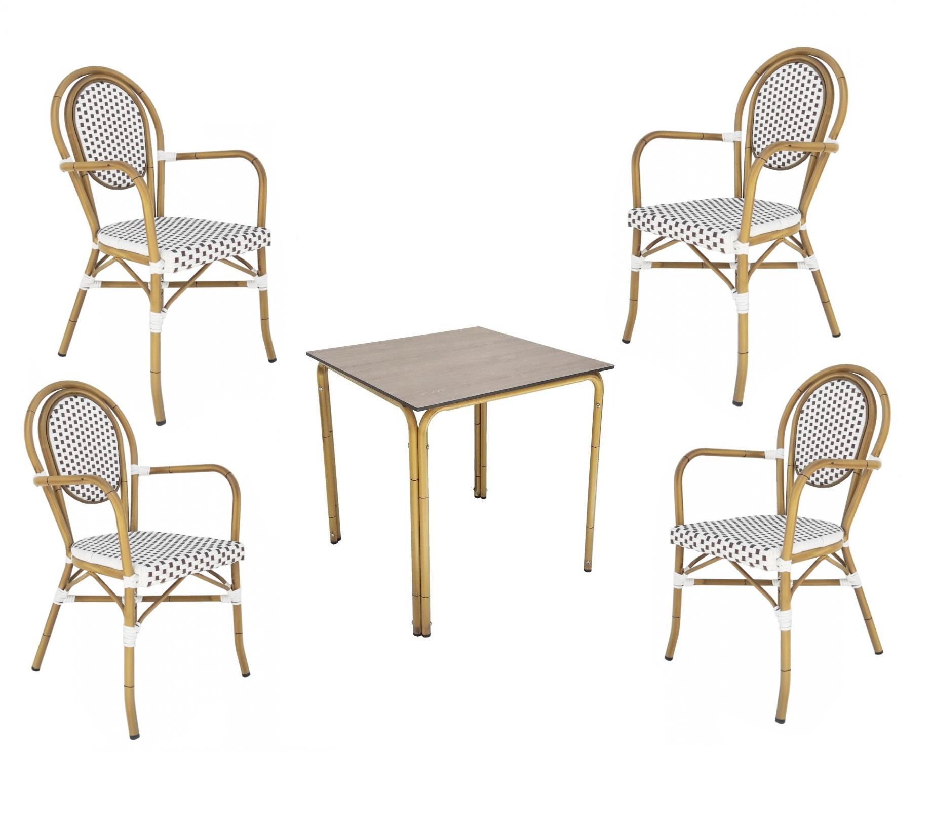 conjunto mesas y sillas de terraza parisinas