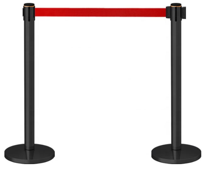 poste separador cinta extensible filas roja