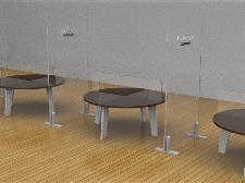 Mamparas para separar mesas restaurante oficinas