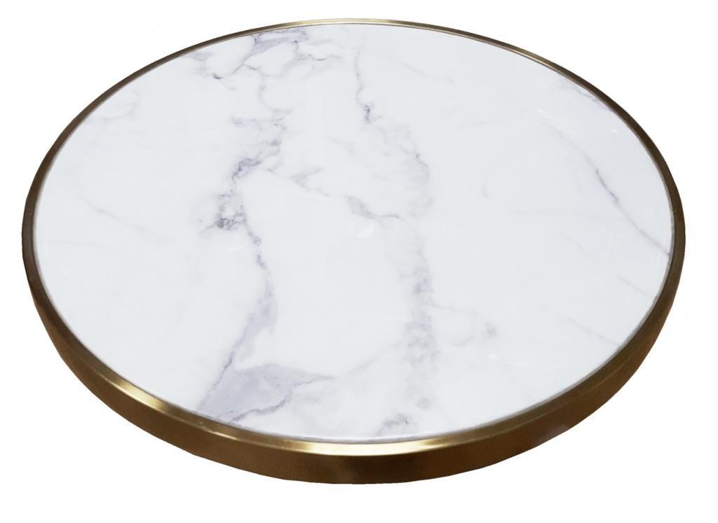 tablero mesa de marmol blanco